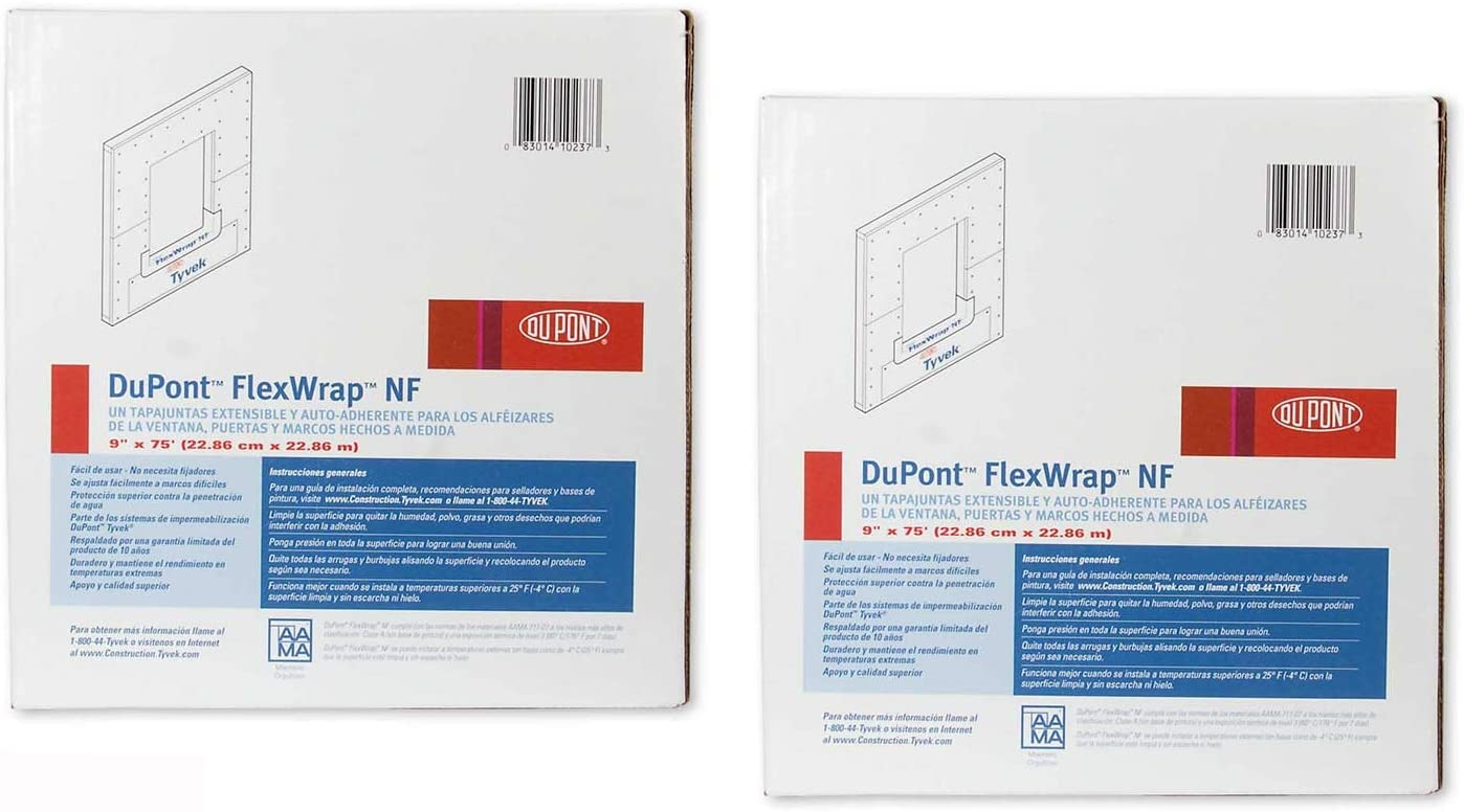 "Tyvek 9/"" Dupont Flexwrap Nf"