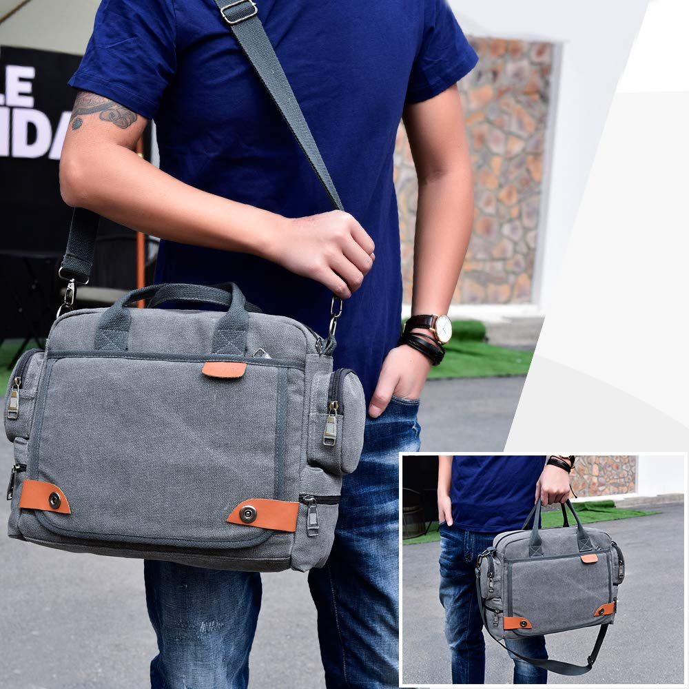 SPAHER Grande Bandolera malet/ín iPad Laptop Bolso Hombre Work Messenger Bolso de Negocios Escuela Crossbody Bolso de Mano Bolso de Viaje para port/átil 14 Notebook