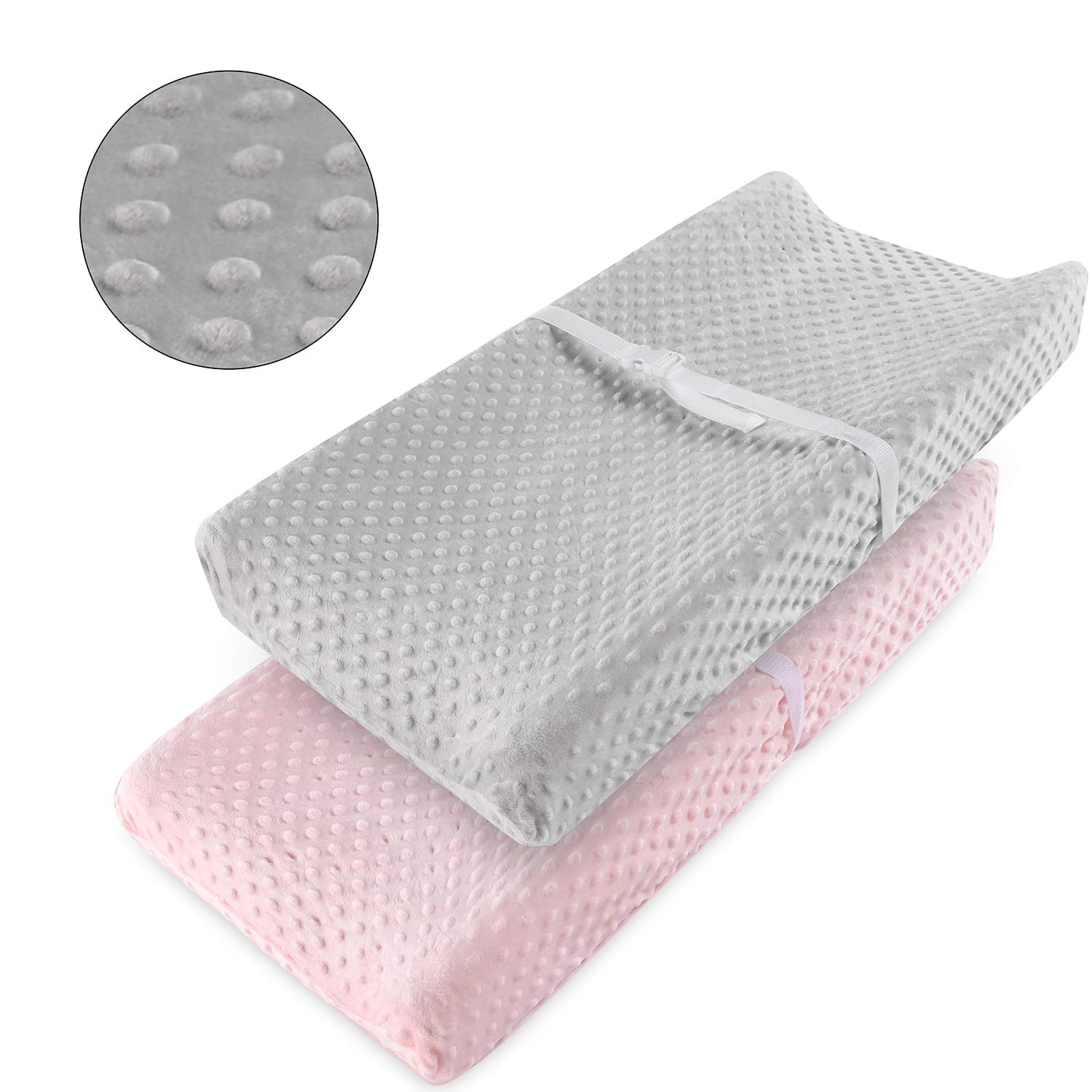 Minky Chaning Pad Cover Dot Changing Pad Covers Girls Ultra Soft Stretchy Premium Changing Table Pad Cover for Girls and Boys Breathable Comfortable Diaper Cover