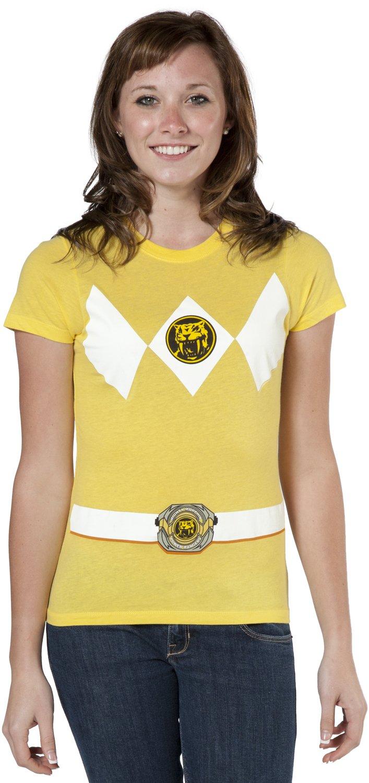 Mighty Fine Junior Yellow Ranger Costume Shirt - X-Large