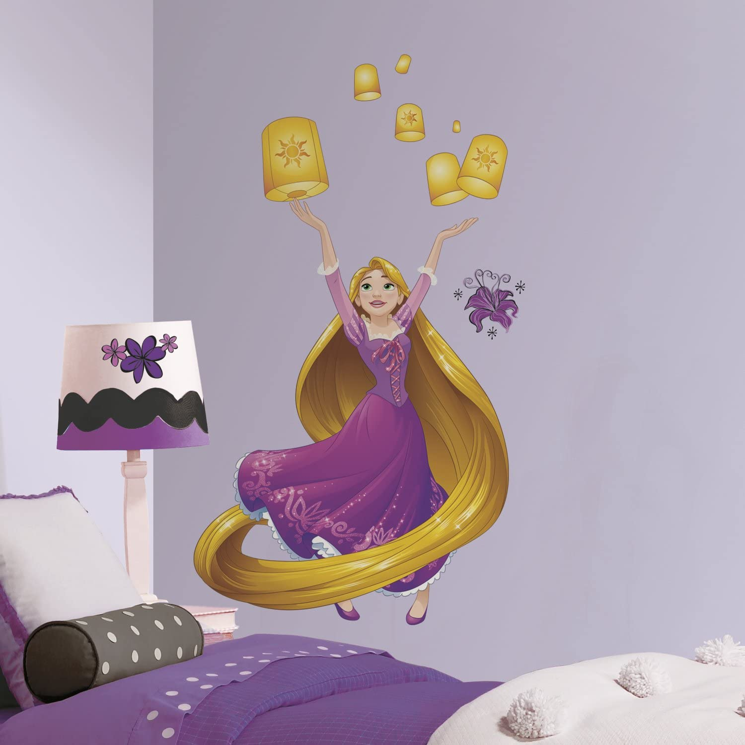 RoomMates Disney Princess Sparkling Rapunzel Peel And Stick Giant Wall Decals