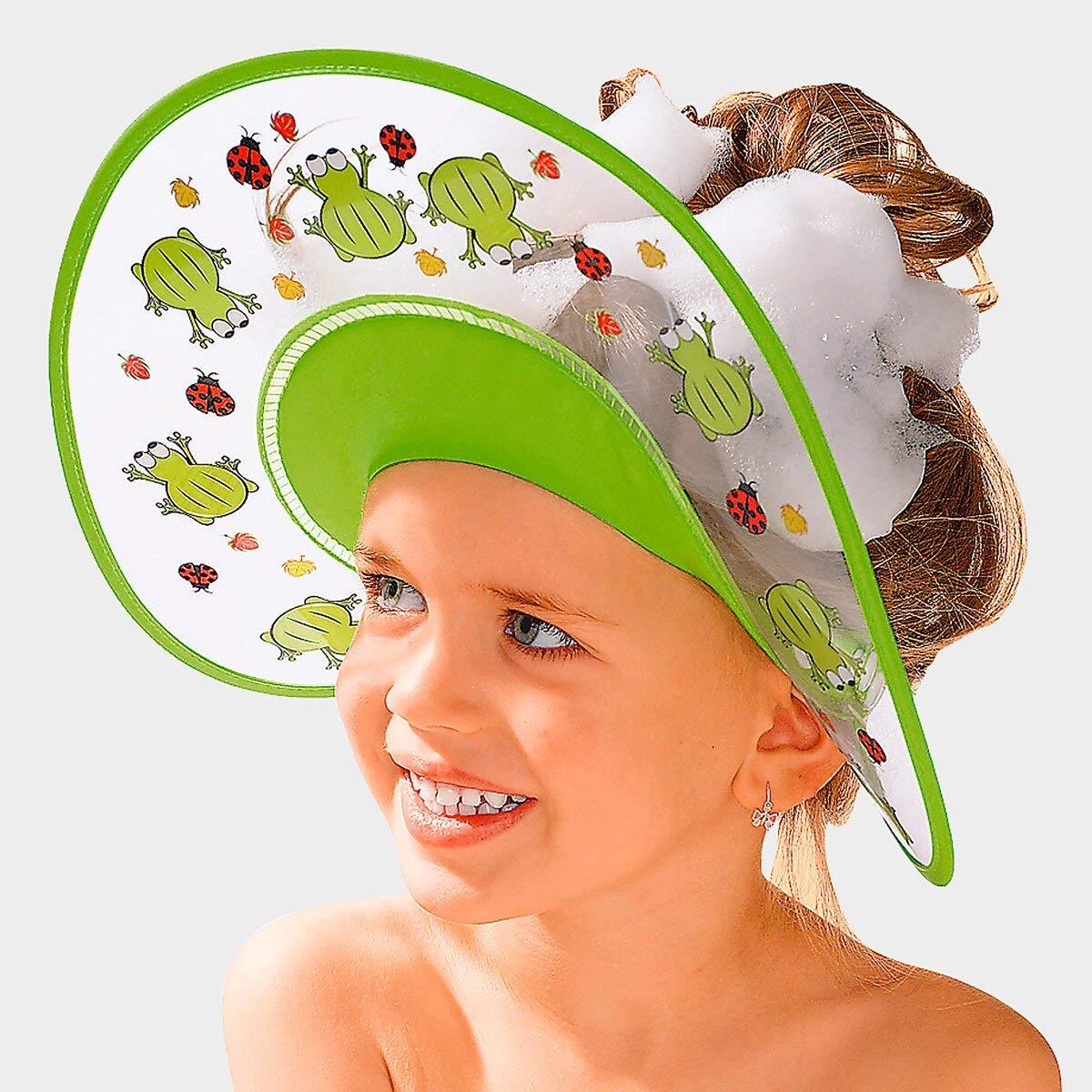 Augenschutz und Ohrenschutz Kinder Duschkappe Haare waschen zum /Überst/ülpen clacce Kinder Duschkappe Shampoo Schutz f/ür Babys Haarwaschhilfe 100/% wasserdicht I weiche Silikonhaut