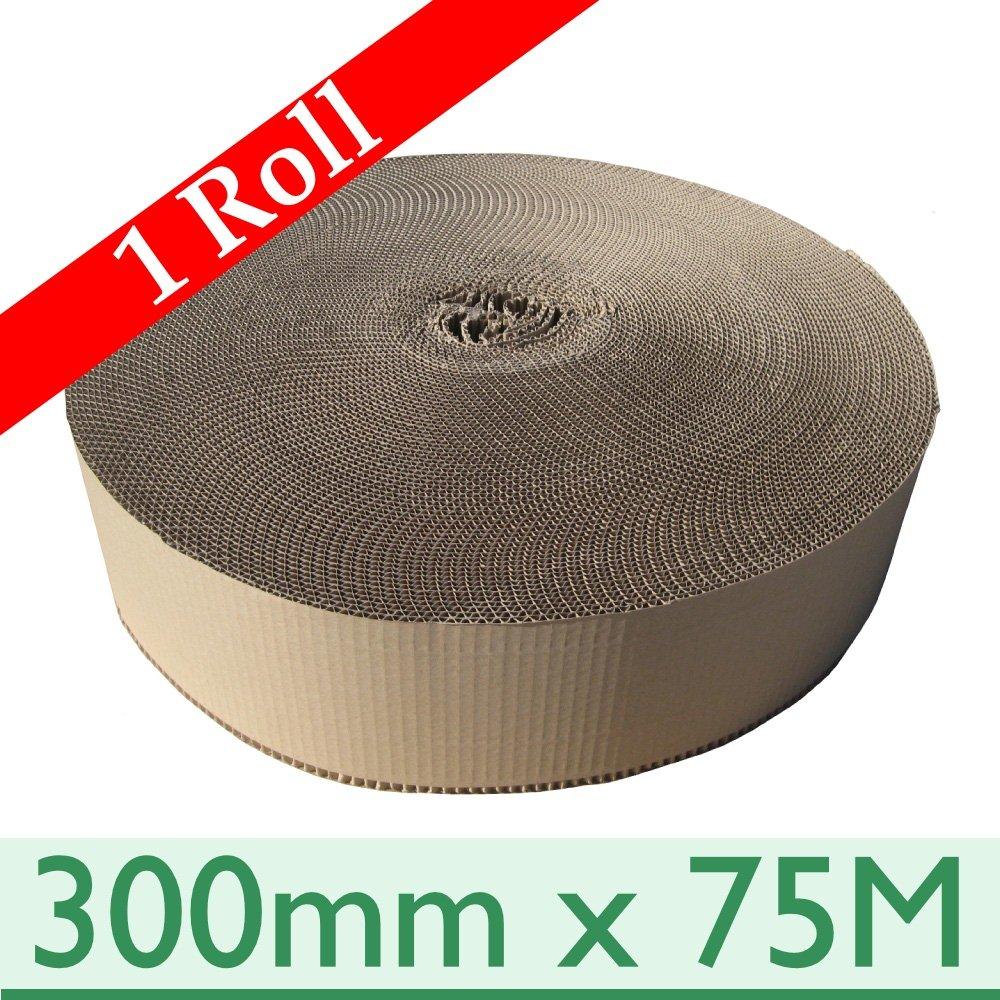 1 x Corrugated Cardboard Paper Rolls ~ 300mm x 75M CR0300