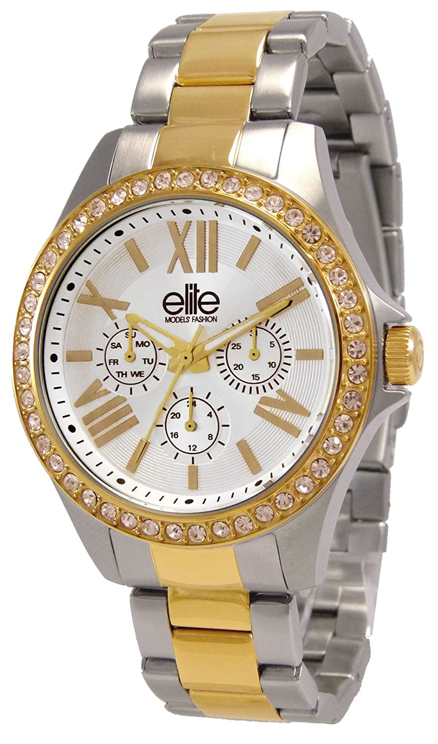 Elite Models' Fashion Damen-Armbanduhr Analog Quarz bicolor - mehrfarbig E54354G-304