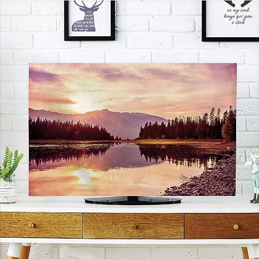 Funda para televisor LCD, Paisaje, Ciudad Europea, Holanda, Ámsterdam, Paisaje de Antiguas Casas victorianas, impresión artística, diseño de impresión 3D Compatible con TV de 32 Pulgadas: Amazon.es: Hogar