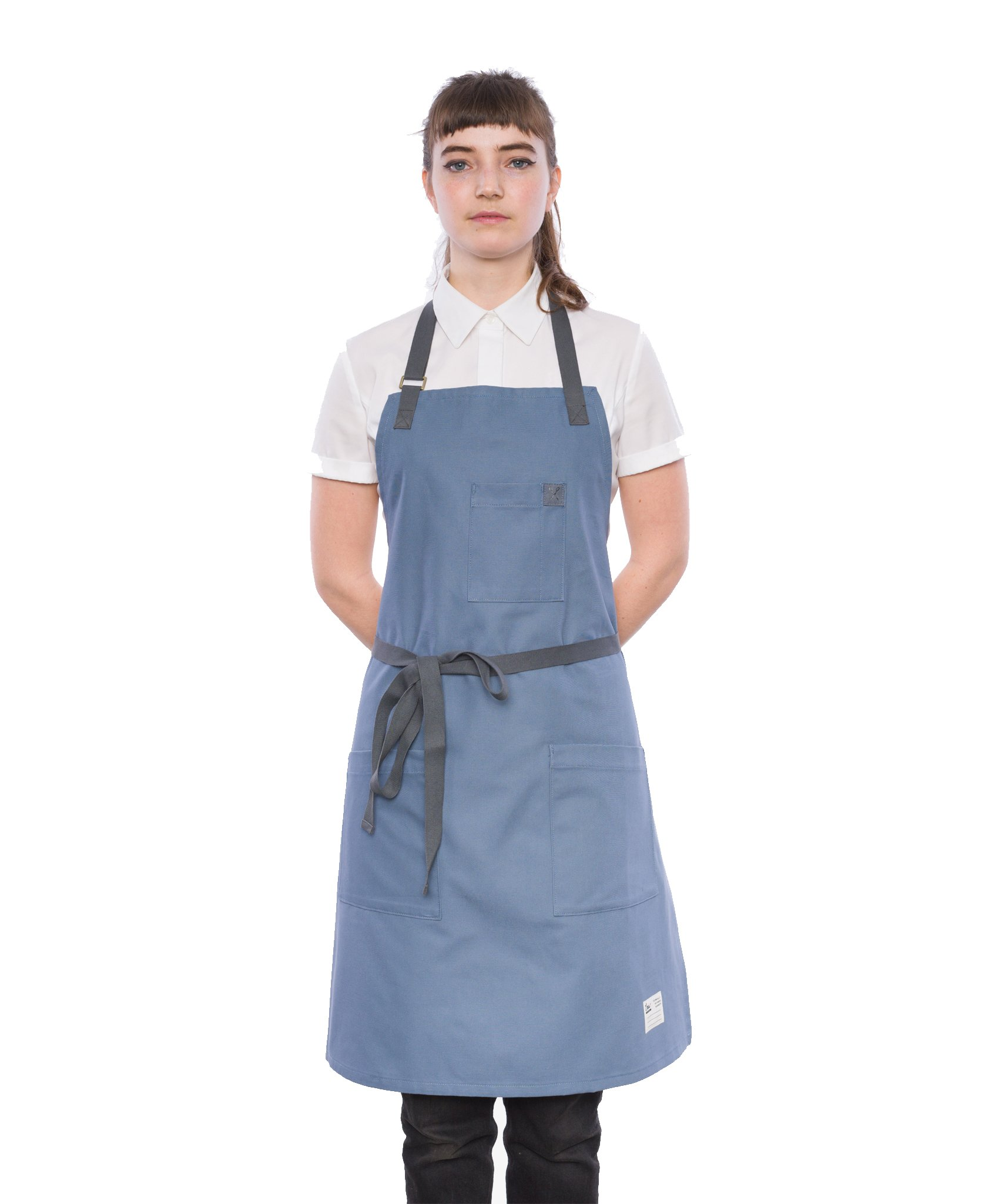 Crew Apparel Christian Slate Brushed Canvas Standard Apron Made in USA by Crew Apparel