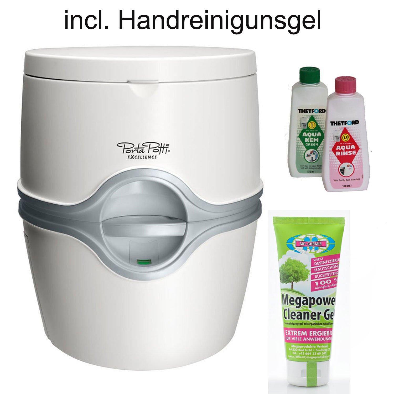 Thetford Tragbare Frischwassertoilette Porta Potti Excellence ELECTRIC mit elektrischer Pumpe von bootsshop in Bad Ischl incl. Handreinigungsgel 100 ml