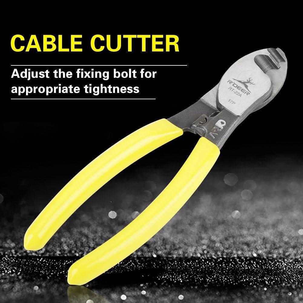 Outil Manuel RT-22 Naroote Coupe-Fil,Coupe de c/âble 6 Pince coupante lectrique pour Couper Les Cables en Acier Chrome Vanadium