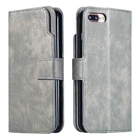4ea67afcf78 DENDICO Cover iPhone 7 Plus / 8 Plus, Custodia Pelle Portafoglio per Apple iPhone  7