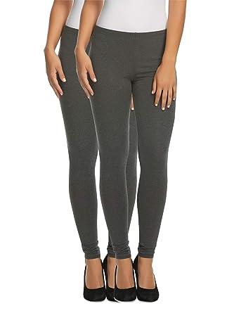 454c042dbe3d3b Felina | Cotton Modal Lightweight Legging | Yoga Pants | 2-Pack | Mid Rise  (Dark Heather Grey, Large) at Amazon Women's Clothing store: