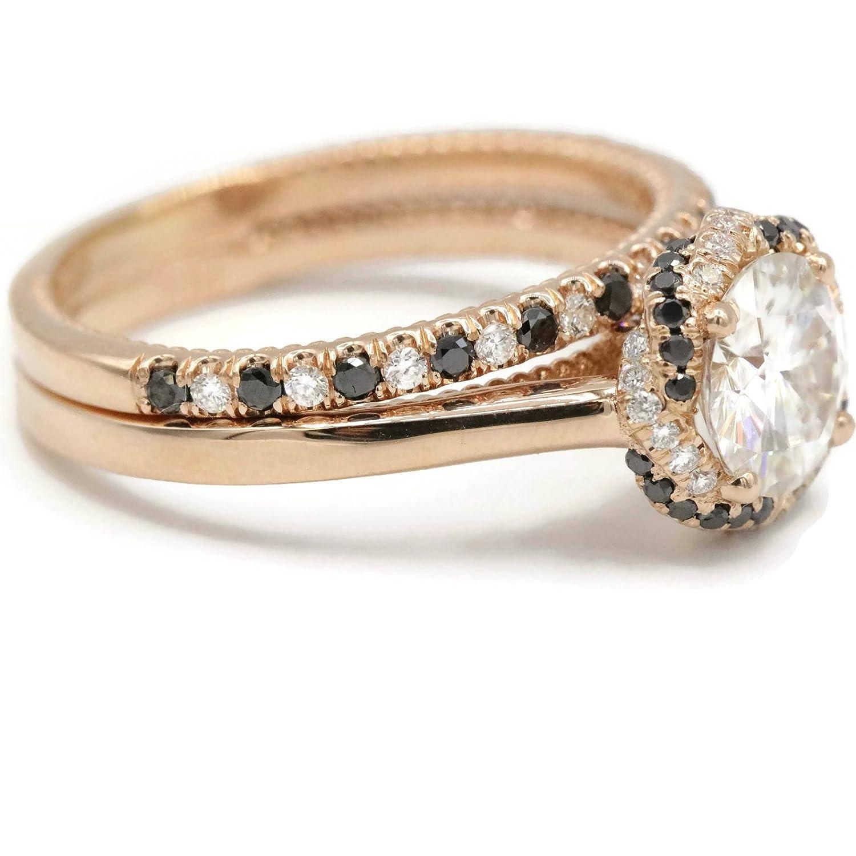 Amazon com: Boho Braided Engagement and Wedding Ring Set in