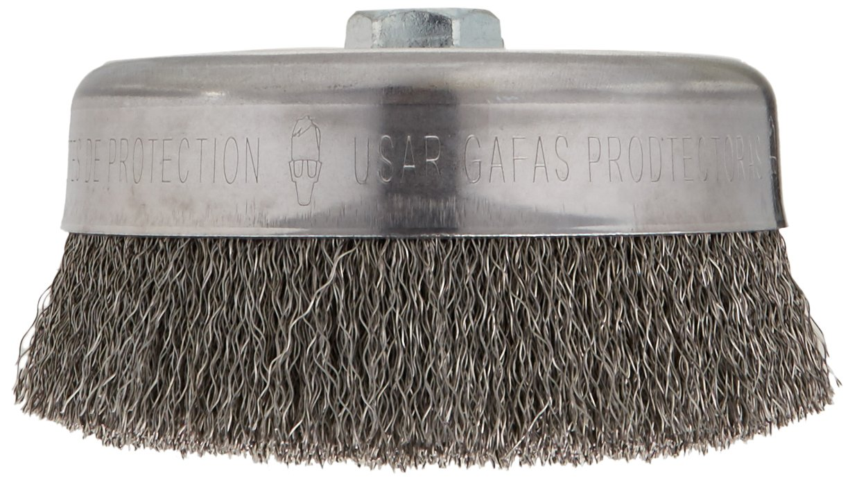 Bosch WB526 6-Inch Crimped Carbon Steel Cup Brush, 5/8-Inch x 11 Thread Arbor