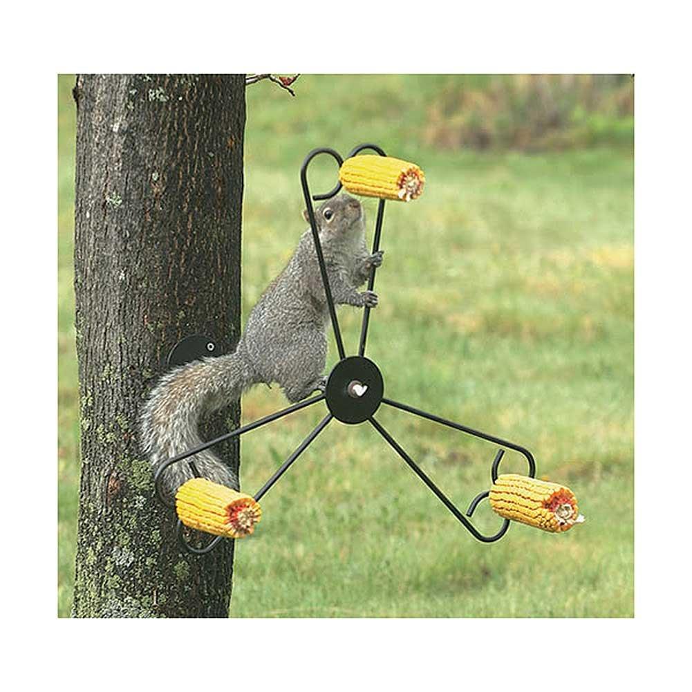 Bandwagon Whirly Spinning Steel Squirrel Feeder