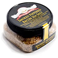 Smoked Peppered Bacon Sea Salt - Cooking, Seasoning & BBQ Grilling Flavor - 4 Ounces - Stackable Jar - by Caravel Gourmet