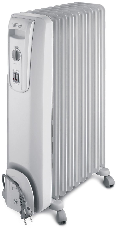 DeLonghi KH 770920 - Radiador de aceite, 9 elementos, 2000 W, color blanco: Amazon.es: Hogar