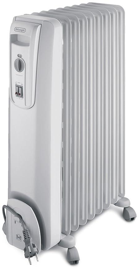 DeLonghi KH 770920 - Radiador de aceite, 9 elementos, 2000 W, color blanco