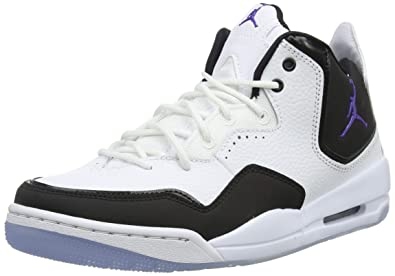 new concept 2f1bf 7f7bc Jordan Nike Men s Courtside 23 White Dark Concord Black Basketball Shoe 8  Men US