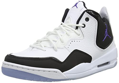 303b7cd37e8 Jordan Nike Men's Courtside 23 White/Dark Concord/Black Basketball Shoe 9  Men US