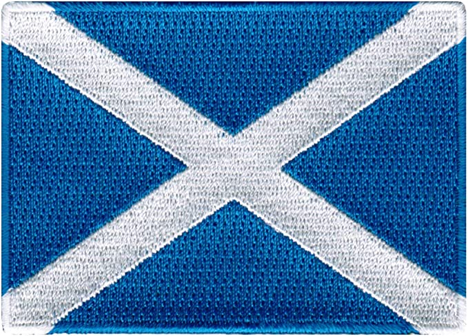 Patch embroidered thermoadhesive printed coat of arms flag glasgow scotland