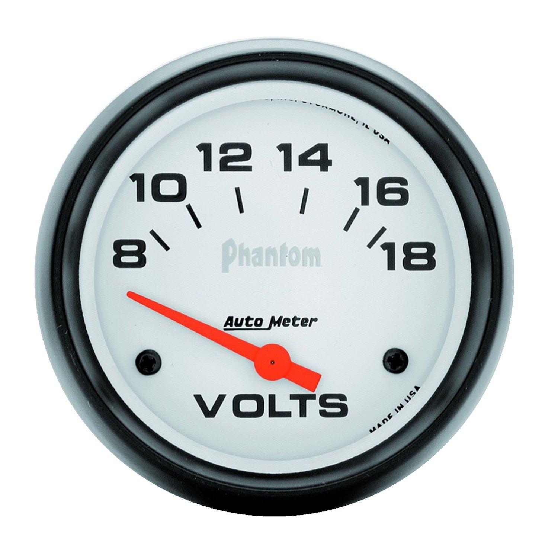 Auto Meter 5891 Phantom Electric Voltmeter Gauge by AUTO METER