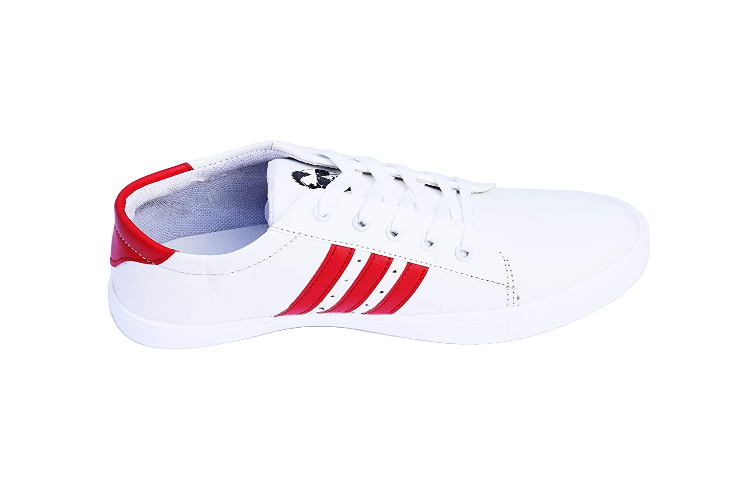 Buy White Sneaker with red Stripes (8