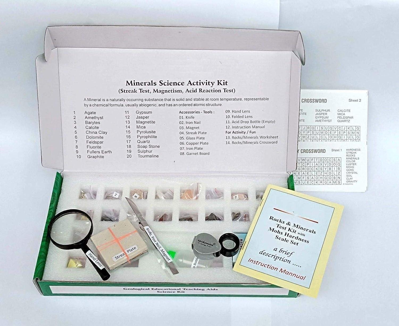 Wire Nail Crossword   Minerals Science Activity Kit Mit Testwerkzeug Arbeitsblatt Puzzle