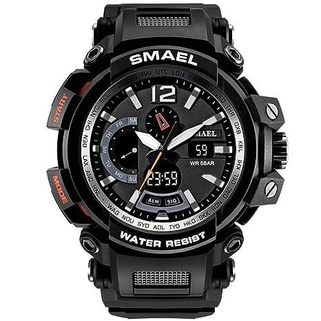 Fancylande Relojes Sport Sport para Hombre Reloj Deportivo Dual Display Multifunción para Hombre 1702
