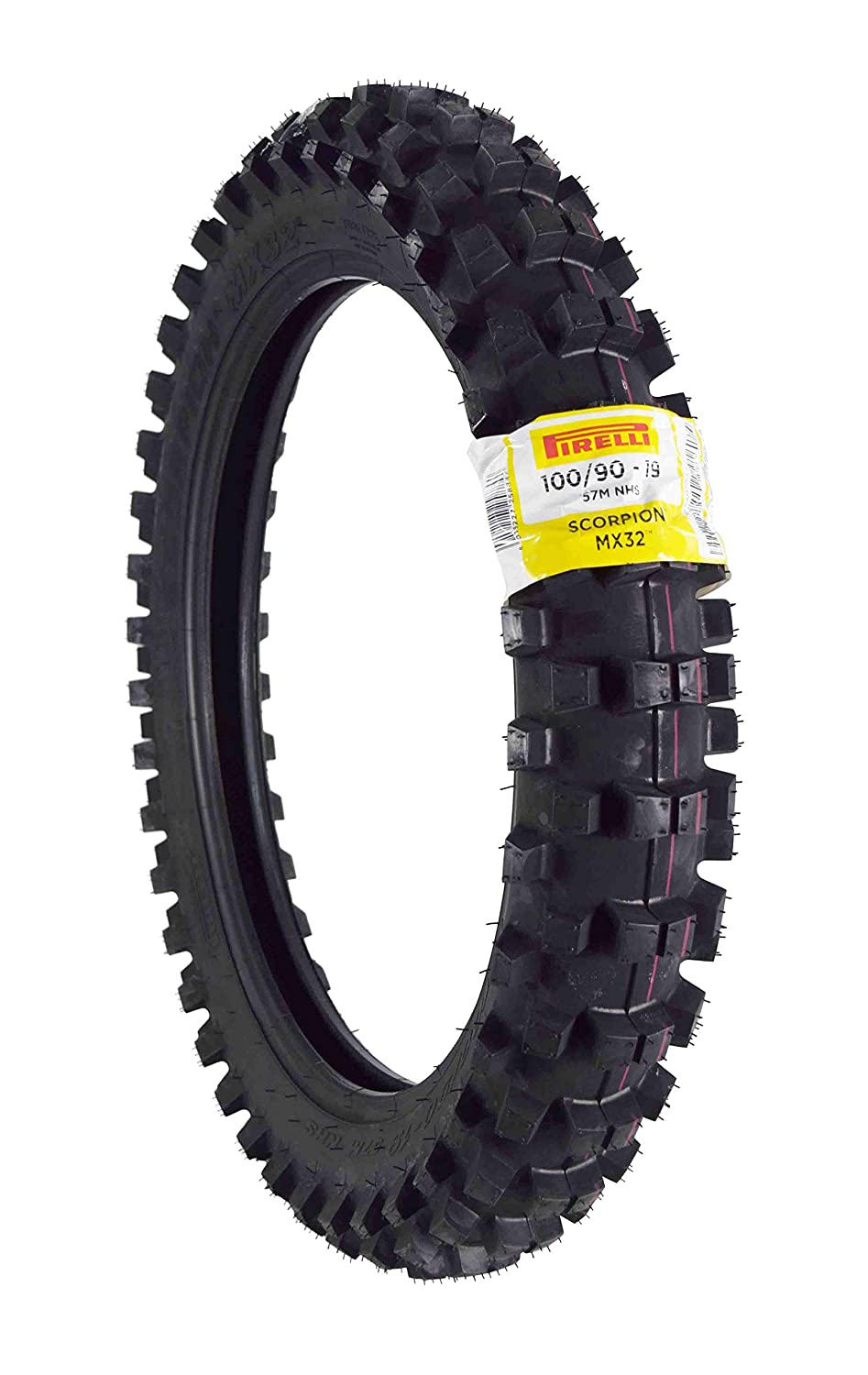 70//100-17 F 90//100-16 R with Tubes Pirelli Scorpion MX32 Mid Soft Dirt Bike Front and Rear Motocross Tires Set with Inner Tubes and Authentic Pirelli Key Chain