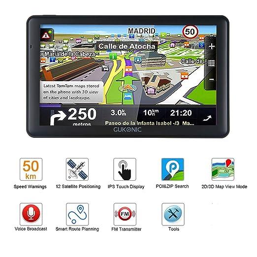 GUKONIC GPS para Coche Pantalla de 7
