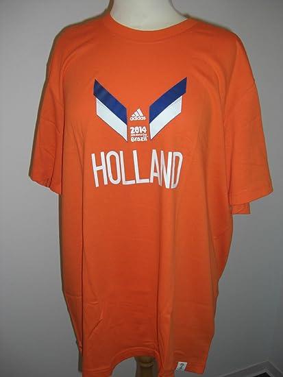 Adidas Holland - Camiseta Retro - Camiseta (Naranja), Unisex, Naranja, Extra-Small: Amazon.es: Deportes y aire libre