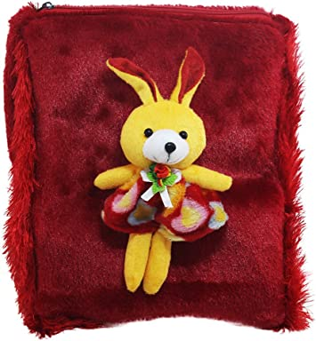 Tickles Red Rabbit School Sling Bag Stuffed Soft Plush Toy 3 litres