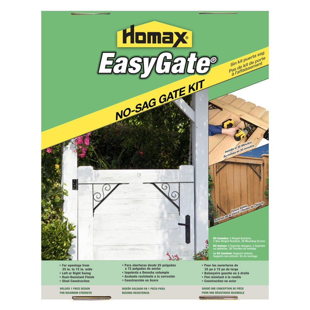 Gate Bracket Kit, 4 Bracket, Swirl Design Easy Gate, for Gate Repair and New Decorative Gates