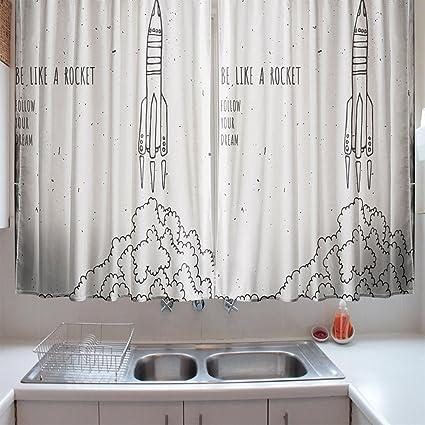 Black White Kitchen Curtains 2 Custom Decorating