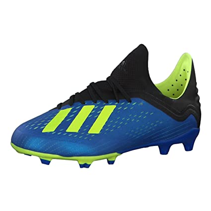 wholesale dealer 897e5 18de9 adidas X 18.1 Firm Ground Junior Football Boots - Blue-13.5 J
