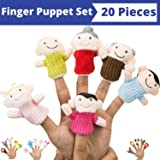Finger Puppet Set (20-Piece), 6 Family Member Finger Puppets,14 Animal Finger Puppets - Great for Storytelling, Role-playing, Teaching and Fun - by Better Line Manufacturer: Better Line ®