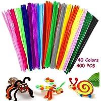 AISONBOO 400 limpiabipas 40 colores tallos de chenilla