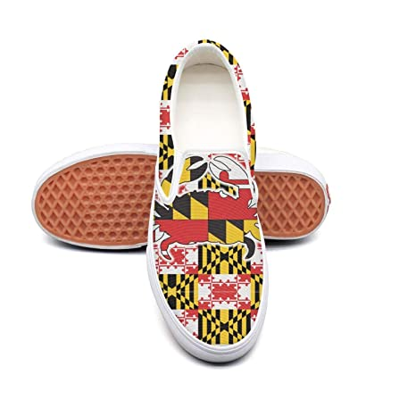6f81678896cec Amazon.com: OneFish Vintage Maryland Crab Flag Casual Slip-on Skate ...