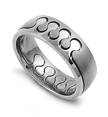 Amazon Com Jewelryvolt Tir 080 10mm Titanium Wedding Band Modern