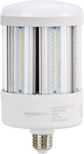 AmazonBasics 100W LED Corn Bulb, 10000 Lumens, 50000 Hours, E26 Base | Cool White