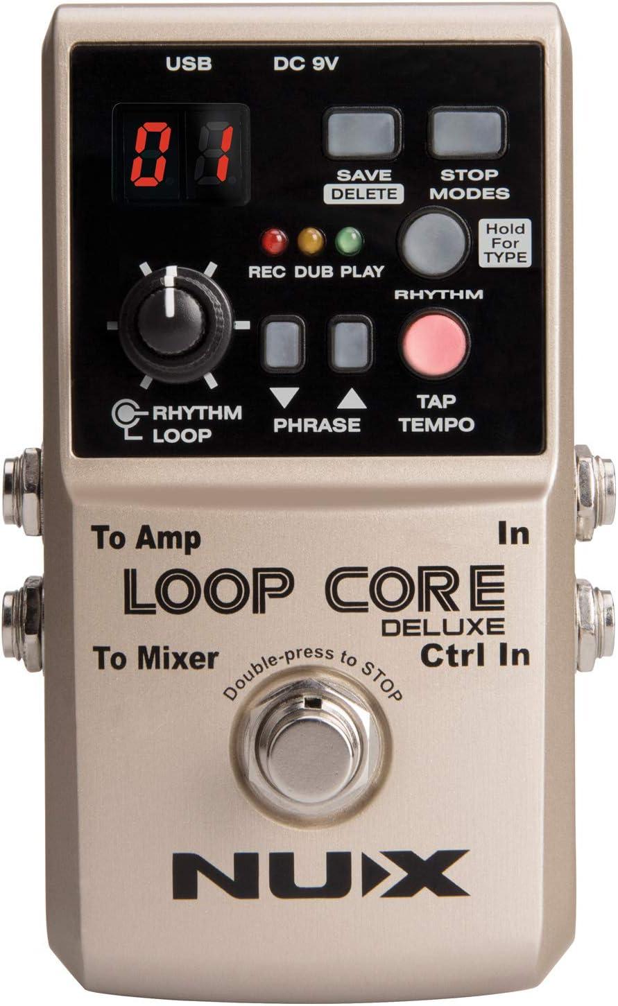 NUX - Loop Core Deluxe - Paquete de pedal de 24 bits, para guitarra FX