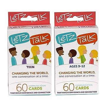 Letz Talk Change The World 60 Juego de Cartas de comunicación 2 en ...