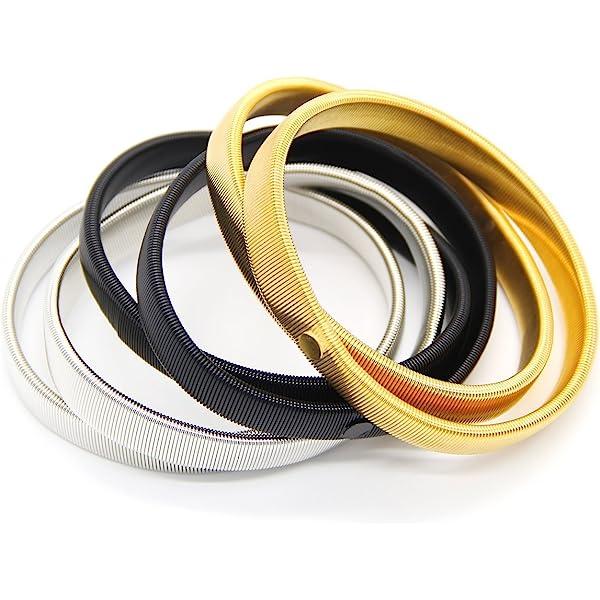 Pair of Gold Metal Shirt Sleeve Holders Support Arm Bands Garter for Men