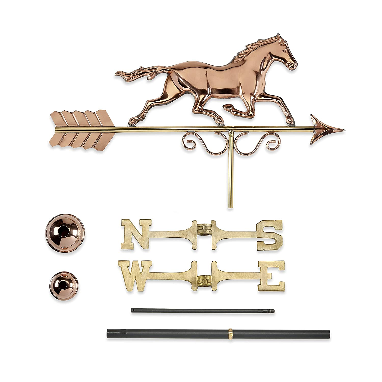 Pure Copper Good Directions Galloping Horse Weathervane