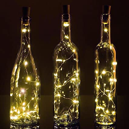 led solar copper wire string lightsolar wine bottle cork lights for bottle diy
