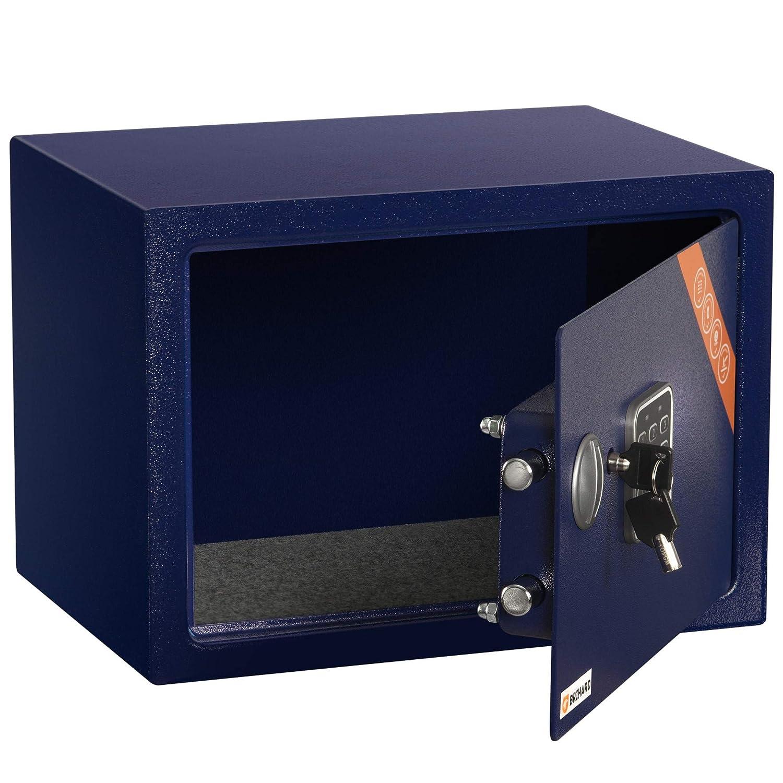 HxWxD Brihard Family Coffre-Fort avec Serrure /électronique 25x35x25cm Bleu Marine