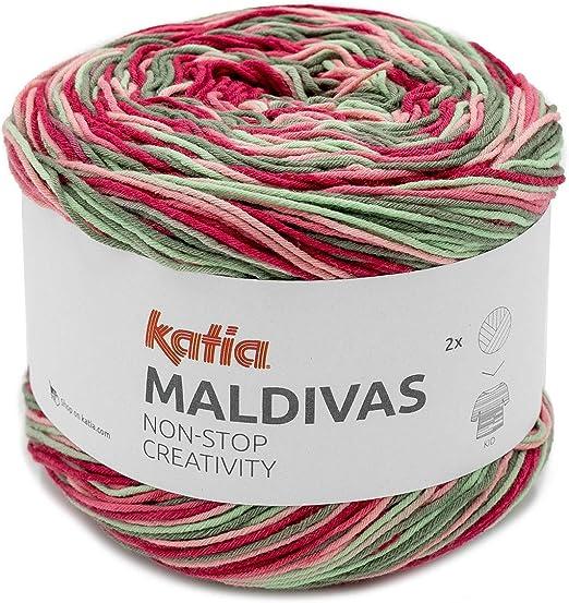 Katia Maldivas FB. Bobbel 83, Hilo de Mezcla de algodón, 150 g ...