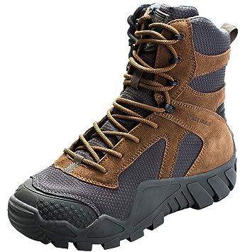 FREE SOLDIER Chaussures High Top Militaire pour Homme Tactique Bottes de randonnée à Lacets Travail Combat Tous Les terrains résistante à l'usure