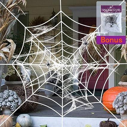Black Widow Instant Rope SPIDER WEB Halloween Decoration