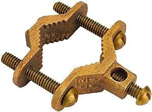 HomeFlex 11-05BC 1/2-Inch - 3/4-Inch Brass System Bonding Clamp