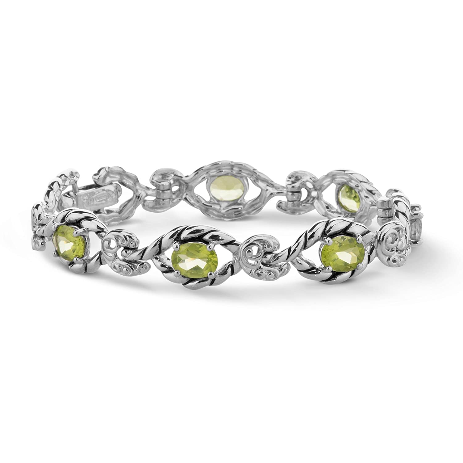 925 Silver Gemstone S M L Link Bracelet with Fold-over Clasp Relios cp2-4750-001-L